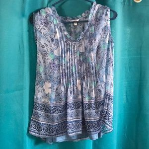 Sonoma Top chiffon overlay tank top attached